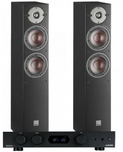 Audiolab 6000A Amplifier with Dali Oberon 5 Floorstanding Speakers