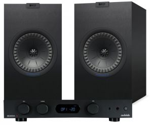 Audiolab 6000A Amplifier with KEF Q350 Bookshelf Speakers