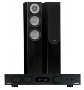 Audiolab 6000A Amplifier with Monitor Audio Silver 200 Bookshelf Speakers