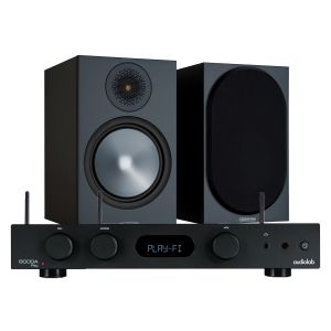 Audiolab 6000A Play Wireless Amplifier & Streaming Player with Monitor Audio Bronze 100 Speakers (6th Gen)