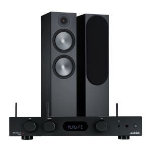 Audiolab 6000A Play Wireless Amplifier & Streaming Player with Monitor Audio Bronze 500 Speakers (6th Gen)