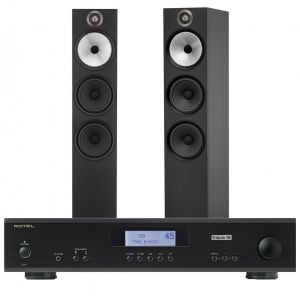 Rotel A11 Tribute Integrated Amplifier with Bowers & Wilkins 603 Floorstanding Speakers