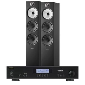 Rotel A11 Tribute Integrated Amplifier with Bowers & Wilkins 603 S2 Floorstanding Loudspeakers
