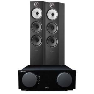 Cyrus One Integrated Amplifier with Bowers & Wilkins 603 S2 Floorstanding Loudspeakers