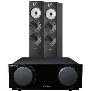 Cyrus One Cast Amplifier with Bowers & Wilkins 603 S2 Floorstanding Loudspeakers