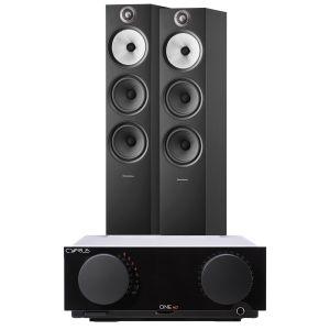 Cyrus One HD Integrated Amplifier with Bowers & Wilkins 603 S2 Floorstanding Loudspeakers