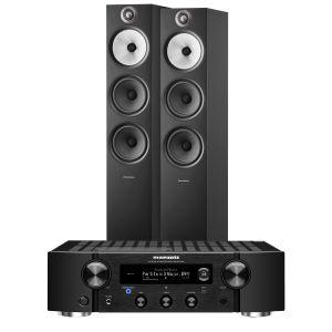 Marantz PM7000N Integrated Stereo Amplifier with Bowers & Wilkins 603 S2 Floorstanding Loudspeakers