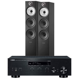 Yamaha R-N803D Amplifier with Bowers & Wilkins 603 S2 Floorstanding Loudspeakers