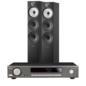 Arcam SA10 Integrated Amplifier with Bowers & Wilkins 603 S2 Floorstanding Loudspeakers