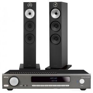 Arcam SA10 Integrated Amplifier with Bowers & Wilkins 603 Floorstanding Speakers