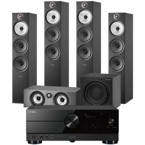 Yamaha RX-A2A AV Receiver with Bowers & Wilkins 603 S2 Anniversary Edition 5.1 Home Cinema Speaker Package (603 S2 Rears)