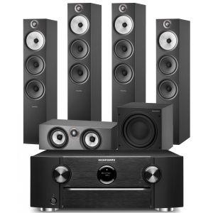Marantz SR6015 9.2ch 8K AV Amplifier with Bowers & Wilkins 603 S2 Anniversary Edition 5.1 Home Cinema Speaker Package (603 S2 Rears)