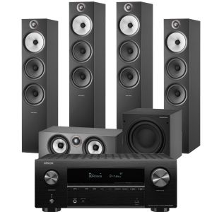 Denon AVR-X2700H AV Receiver with Bowers & Wilkins 603 S2 Anniversary Edition 5.1 Home Cinema Speaker Package (603 S2 Rears)