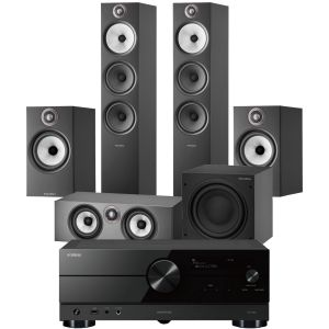Yamaha RX-A2A AV Receiver with Bowers & Wilkins 603 S2 Anniversary Edition 5.1 Home Cinema Speaker Package (606 S2 Rears)