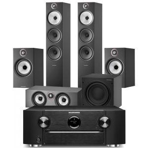 Marantz SR6015 9.2ch 8K AV Amplifier with Bowers & Wilkins 603 S2 Anniversary Edition 5.1 Home Cinema Speaker Package (606 S2 Rears)