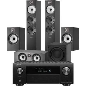 Denon AVC-X4700H AV Amplifier with Bowers & Wilkins 603 S2 Anniversary Edition 5.1 Home Cinema Speaker Package (606 S2 Rears)