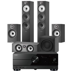 Yamaha RX-A2A AV Receiver with Bowers & Wilkins 603 S2 Anniversary Edition 5.1 Home Cinema Speaker Package (607 S2 Rears)