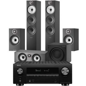 Denon AVC-X3700H Amplifier with Bowers & Wilkins 603 S2 Anniversary Edition 5.1 Home Cinema Speaker Package (607 S2 Rears)