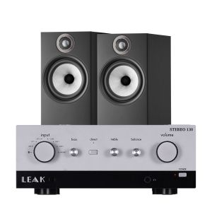LEAK Stereo 130 Integrated Amplifier with Bowers & Wilkins 606 S2 Standmount Loudspeakers