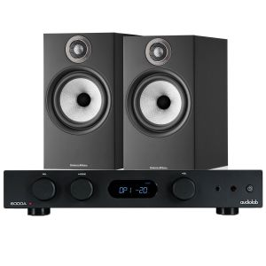 Audiolab 6000A Amplifier with Bowers & Wilkins 606 S2 Standmount Loudspeakers