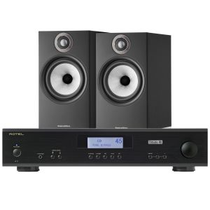 Rotel A11 Tribute Integrated Amplifier with Bowers & Wilkins 606 S2 Standmount Loudspeakers