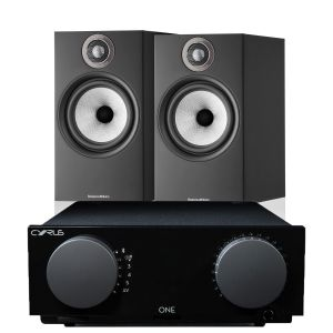 Cyrus One Integrated Amplifier with Bowers & Wilkins 606 S2 Standmount Loudspeakers