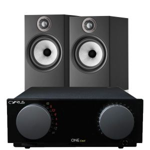 Cyrus One Cast Amplifier with Bowers & Wilkins 606 S2 Standmount Loudspeakers