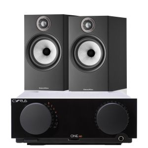 Cyrus One HD Integrated Amplifier with Bowers & Wilkins 606 S2 Standmount Loudspeakers