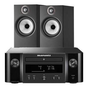 Marantz Melody X. M-CR612 Music System with Bowers & Wilkins 606 S2 Standmount Loudspeakers