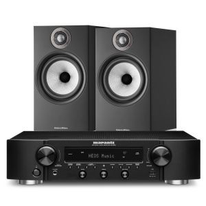 Marantz NR1200 Stereo Network Receiver with Bowers & Wilkins 606 S2 Standmount Loudspeakers
