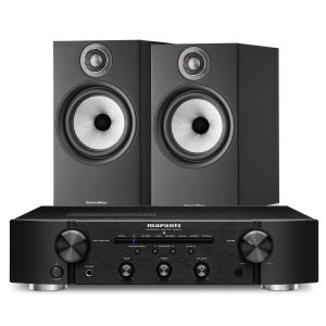 Marantz PM6007 Integrated Amplifier with Bowers & Wilkins 606 S2 Standmount Loudspeakers