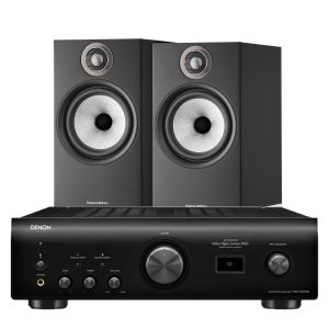 Denon PMA-1600NE Integrated Amplifier with Bowers & Wilkins 606 S2 Standmount Loudspeakers