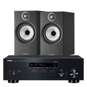 Yamaha R-N303D Hi-Fi Receiver with Bowers & Wilkins 606 S2 Standmount Loudspeakers