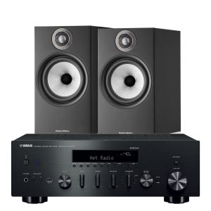 Yamaha R-N602 with Bowers & Wilkins 606 S2 Standmount Loudspeakers