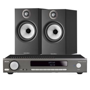 Arcam SA10 Integrated Amplifier with Bowers & Wilkins 606 S2 Standmount Loudspeakers