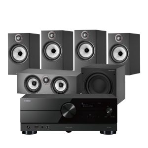 Yamaha RX-A2A AV Receiver with Bowers & Wilkins 606 S2 Anniversary Edition 5.1 Home Cinema Speaker Package (606 S2 Rears)
