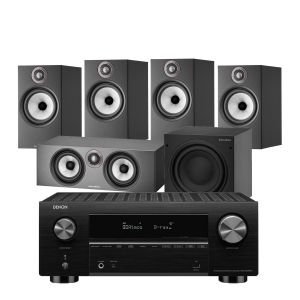 Denon AVC-X3700H Amplifier with Bowers & Wilkins 606 S2 Anniversary Edition 5.1 Home Cinema Speaker Package (606 S2 Rears)