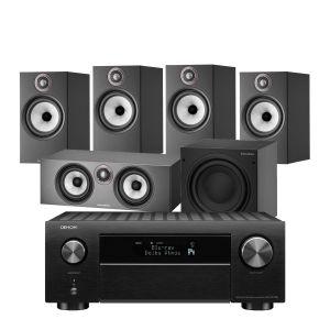 Denon AVC-X4700H AV Amplifier with Bowers & Wilkins 606 S2 Anniversary Edition 5.1 Home Cinema Speaker Package (606 S2 Rears)