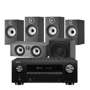 Denon AVC-X3700H Amplifier with Bowers & Wilkins 606 S2 Anniversary Edition 5.1 Home Cinema Speaker Package (607 S2 Rears)