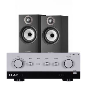 LEAK Stereo 130 Integrated Amplifier with Bowers & Wilkins 607 S2 Standmount Loudspeakers