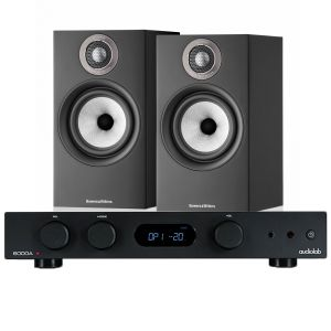 Audiolab 6000A Amplifier with Bowers & Wilkins 607 S2 Standmount Loudspeakers
