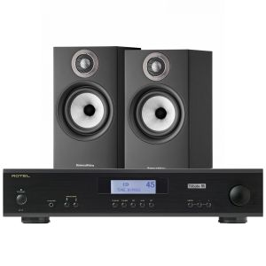 Rotel A11 Tribute Integrated Amplifier with Bowers & Wilkins 607 S2 Standmount Loudspeakers