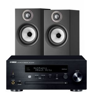Yamaha CRX-N470D with Bowers & Wilkins 607 S2 Standmount Loudspeakers