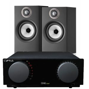 Cyrus One Cast Amplifier with Bowers & Wilkins 607 S2 Standmount Loudspeakers