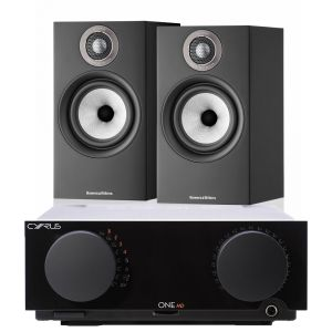 Cyrus One HD Integrated Amplifier with Bowers & Wilkins 607 S2 Standmount Loudspeakers