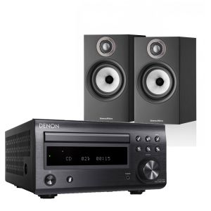 Denon D-M41DAB Hi-Fi System with Bowers & Wilkins 607 S2 Standmount Loudspeakers