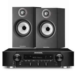 Marantz NR1200 Stereo Network Receiver with Bowers & Wilkins 607 S2 Standmount Loudspeakers