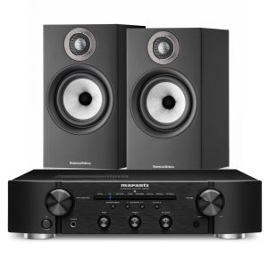 Marantz PM6007 Integrated Amplifier with Bowers & Wilkins 607 S2 Standmount Loudspeakers