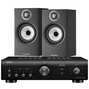 Denon PMA-600NE Integrated Amplifier with Bowers & Wilkins 607 S2 Standmount Loudspeakers
