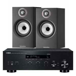 Yamaha R-N303D Hi-Fi Receiver with Bowers & Wilkins 607 S2 Standmount Loudspeakers